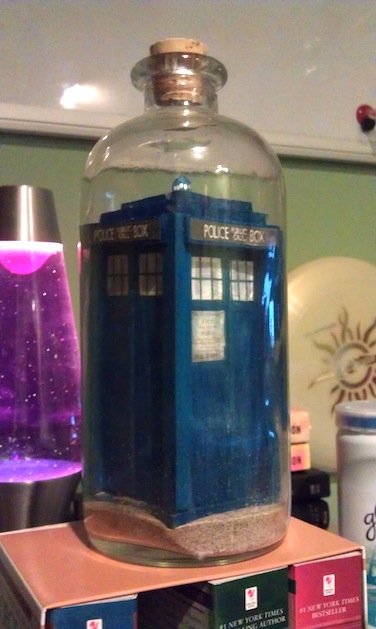 Doctor Who TARDIS in a Bottle