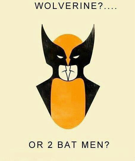 Wolverine or Batman Looking In A Mirror