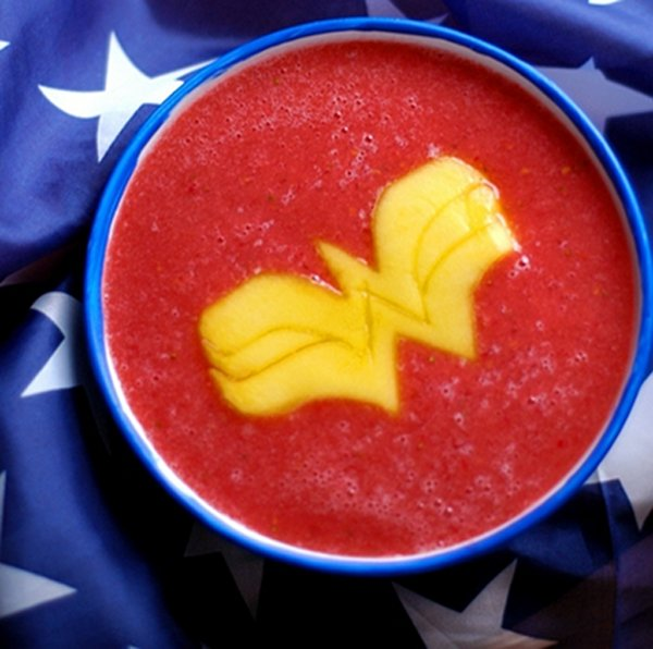 Wonder Woman Fruit Soup Art