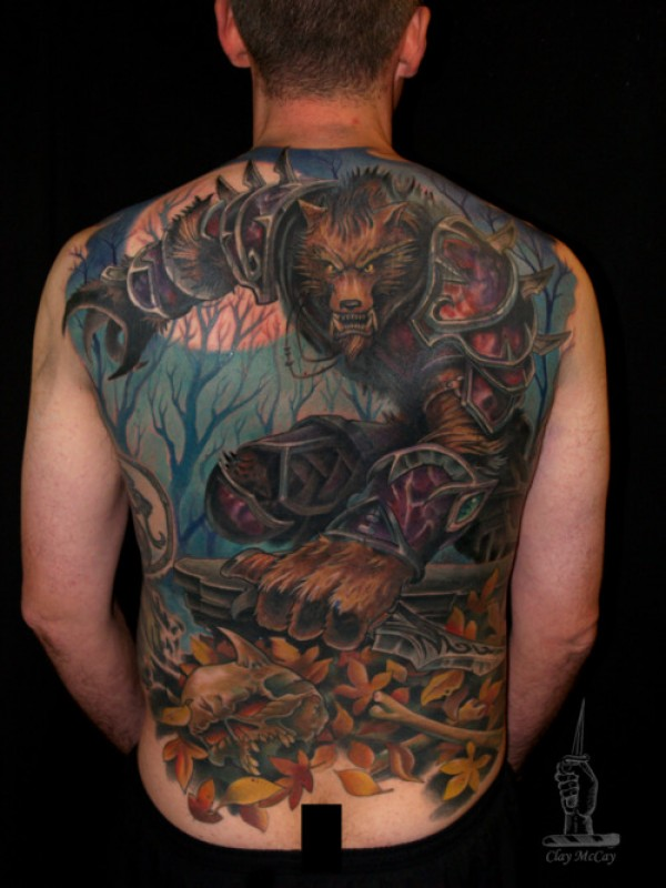 World of Warcraft Full Back Tattoo