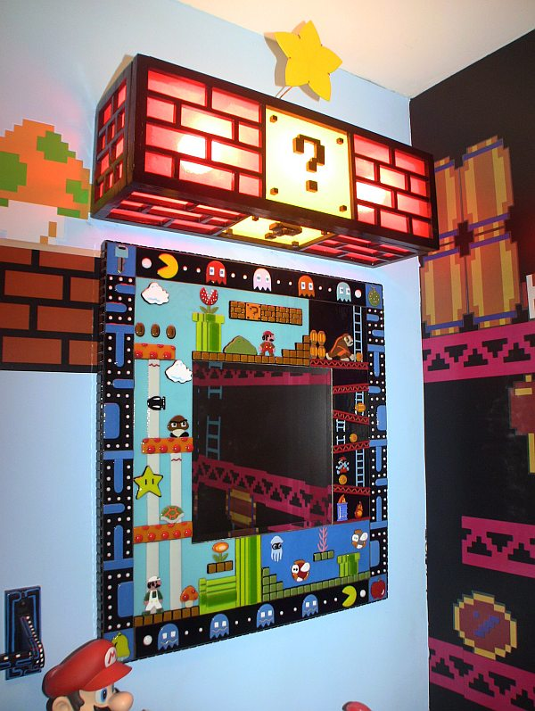 amazing mario donkey kong and pac man bathroom pics