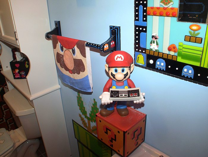 8-Bit Video Game Bathroom