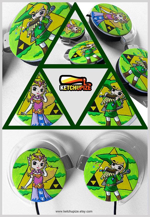 Legend of Zelda Hand-Painted Earphones
