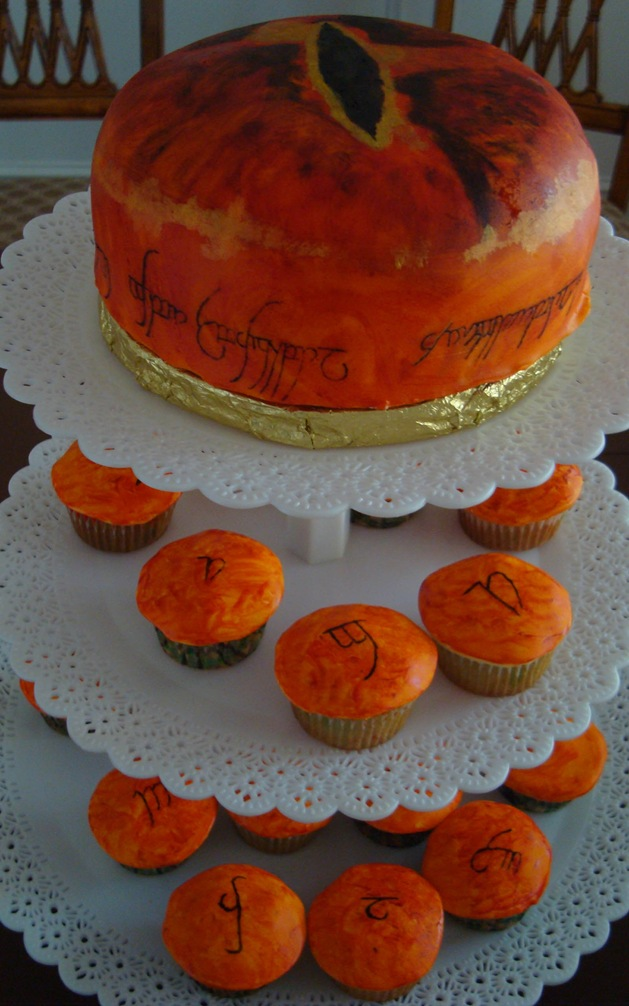 Lord of the Rings Eye of Sauron Cake and Cupcake Tower