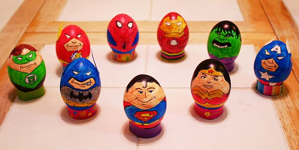 Marvel and DC Superhero Easter Eggs