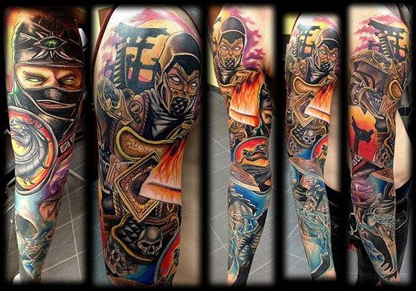 Mortal Kombat Sleeve Tattoo
