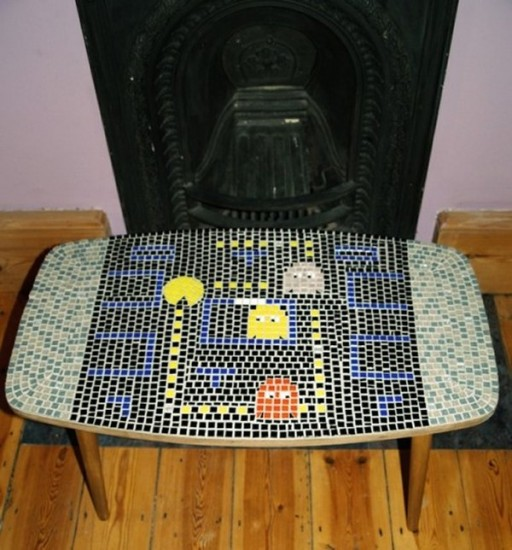 Pac-Man Mosaic Coffee Table