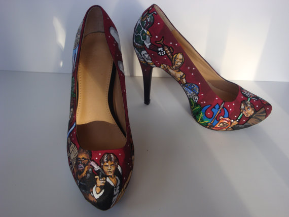 Red Star Wars High Heel Shoes