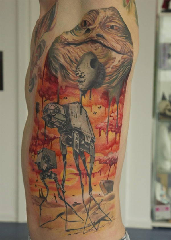 Salvador Dali-Style Star Wars Tattoo