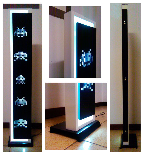 Space Invaders LED Floor Lamp