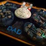 Star Trek Borg and Enterprise Birthday Cake [pic]