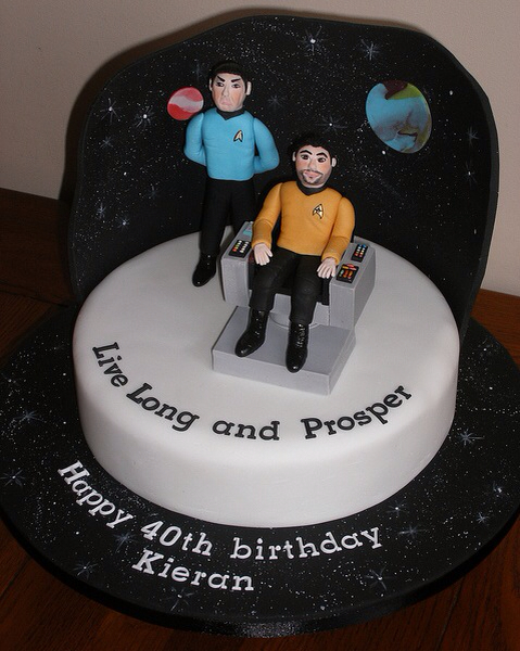 Star Trek Live Long and Prosper Cake