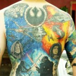 Amazing Star Wars Full Back Tattoo [pic]