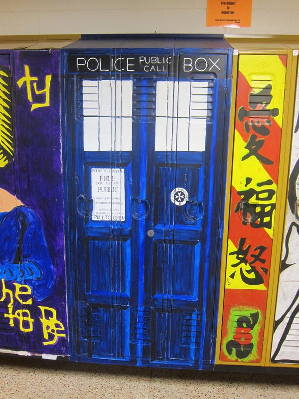 Painted School Locker