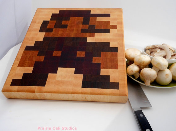 8-Bit Mario Wooden Cutting Board
