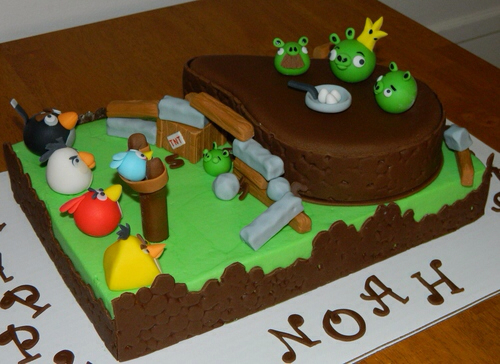 Amazing Angry Birds Birthday Cake