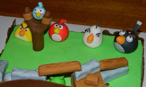 Angry Birds Cake Birds Close-up