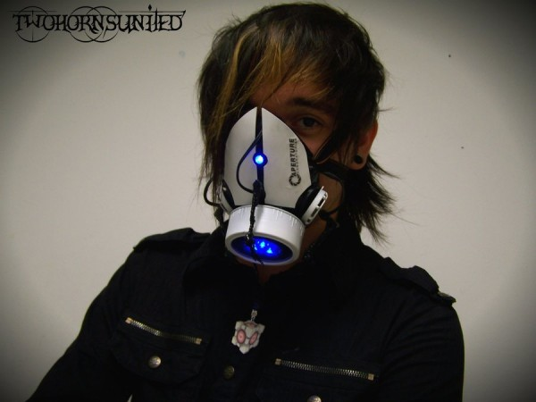 Aperture Science Portal Themed Gas Mask