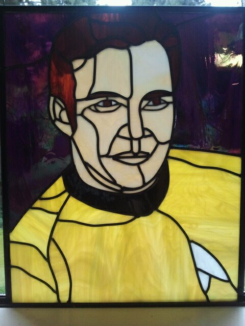 Captain Kirk Stained Glass