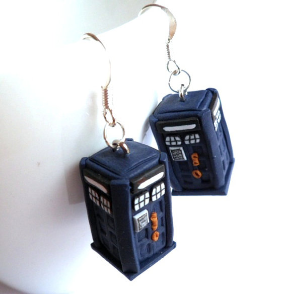 Doctor Who 3D TARDIS Earrings
