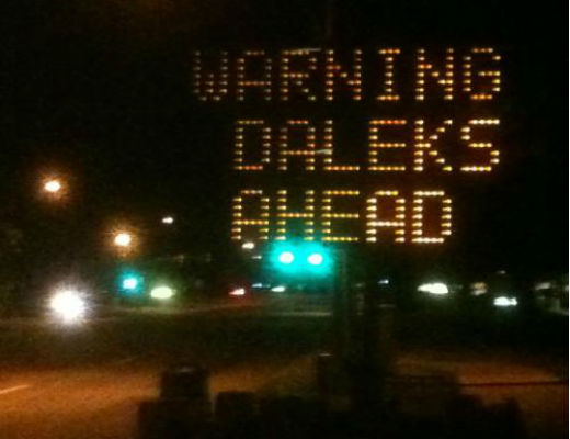 Doctor Who Dalek Road Sign Hack