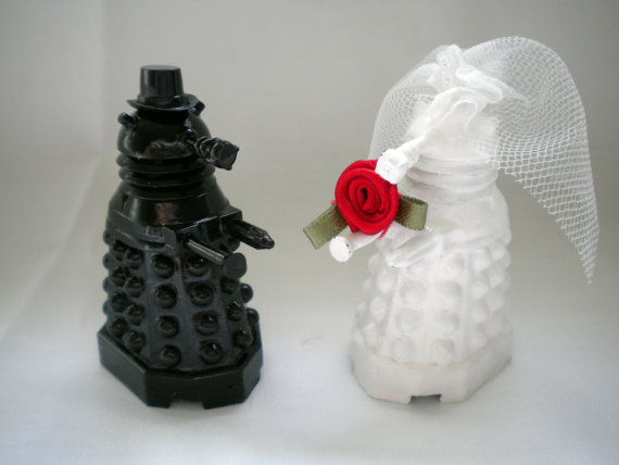 Doctor Who Dalek Wedding Cake Toppers