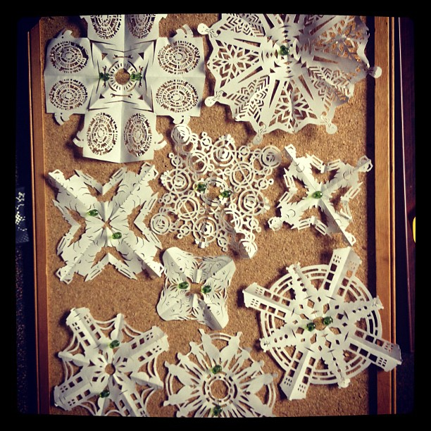 Doctor Who Paper Snowflakes