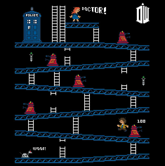 Doctor Who and Donkey Kong Mash-up T-Shirt