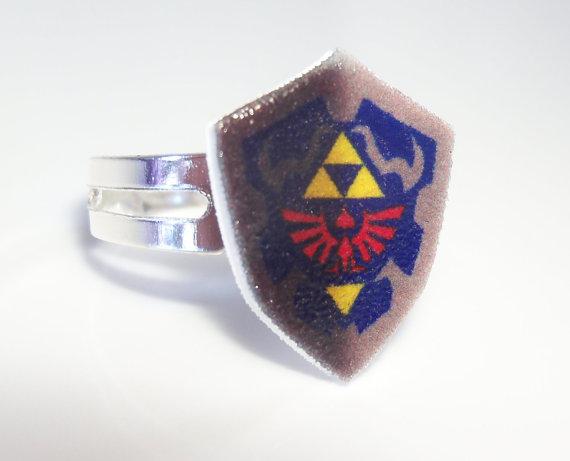 Legend of Zelda Hylian Shield Ring