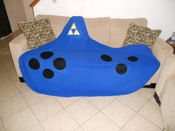 Legend of Zelda Ocarina Fleece Blanket
