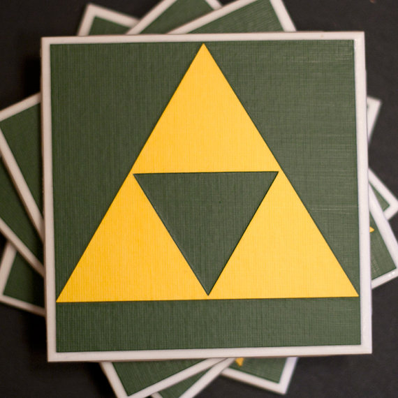 Legend of Zelda Triforce Drink Coasters