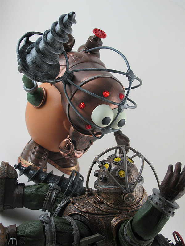 Mr Potato Head as a Big Daddy from Bioshock