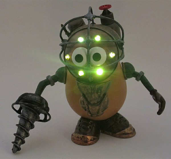 Mr Potato Head as a Bioshock Big Daddy with Lights