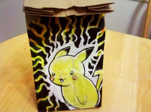 Pikachu Lunch Bag Art