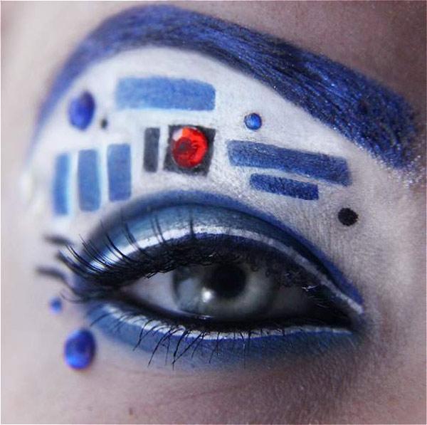 R2-D2 Eye Makeup