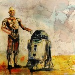 Star Wars R2-D2 and C-3PO Watercolor Painting [pic]