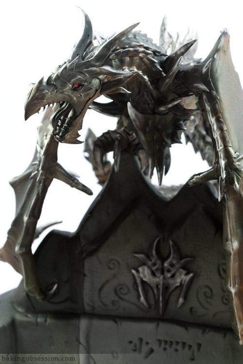 Skyrim Alduin Dragon Cake Close-Up