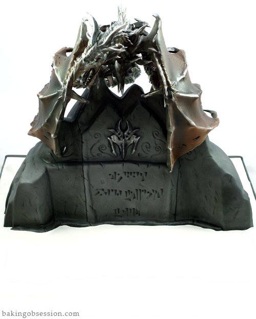 Skyrim Dragon Alduin Cake