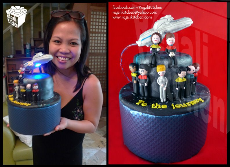 Star Trek Voyager and Crew Cake