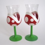 Super Mario Bros Piranha Plant Wine Glasses [pic]