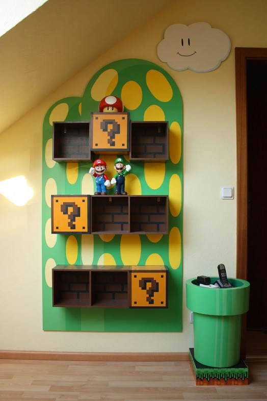 Super Mario Bros Shelves and Warp Pipe Table