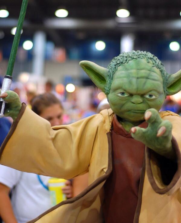 Yoda Cake Close Up
