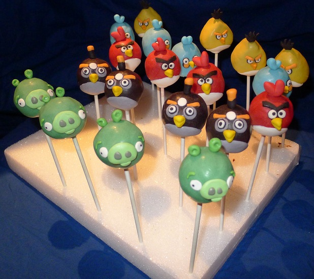 Angry Birds Cake Pops