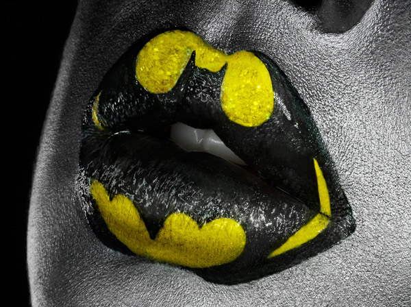 Batman Lipstick Art