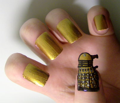 Dalek Fingernail Art