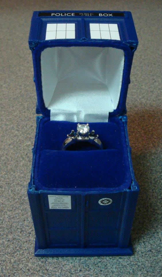 doctor who tardis engagement ring box - Doctor Who Wedding Ring