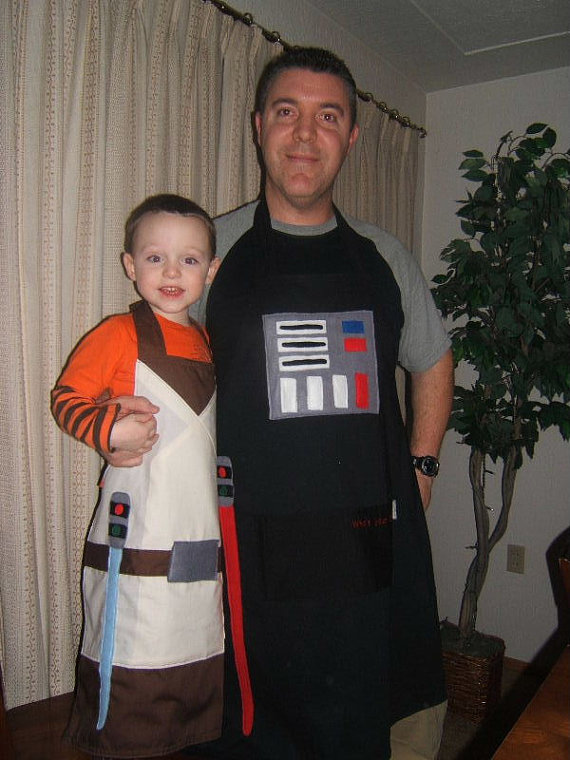 Father and Son Star Wars Cooking Aprons