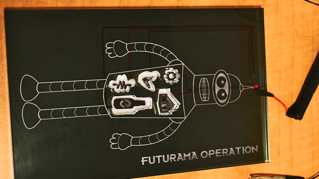 Futurama Operation with Bender