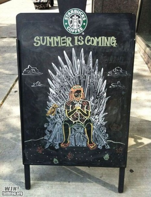 Game of Thrones Chalk Art at Starbucks
