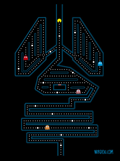 Human Insides are a Pac-Man Game